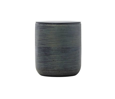 Housedoctor Storage basket Kenya village black aluminum Ø43x50cm