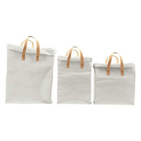 Housedoctor Storage bag Craft light gray set of 3