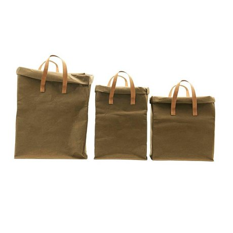 Housedoctor Storage bag Craft army green set of 3
