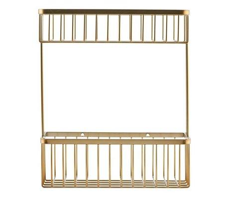 Housedoctor Wandrek Basket brass goud staal 28x11,5x33,3cm