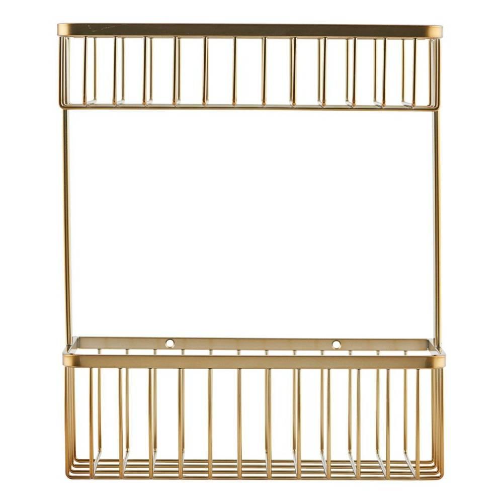 Wandregal Korb Messing Gold Stahl 28x11 5x33 3cm Wonen Met Lef