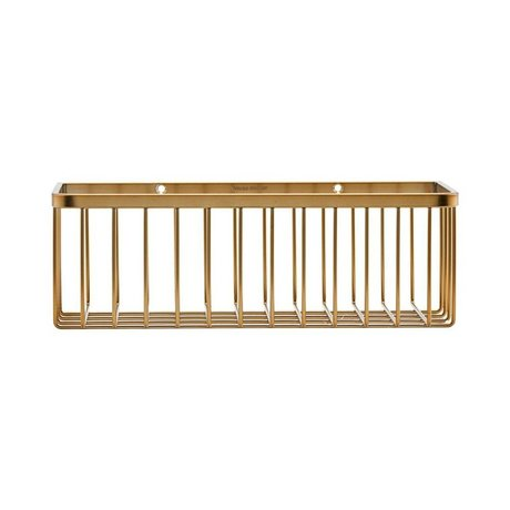 Housedoctor Basket Basket brass gold steel 28x11x9,5cm