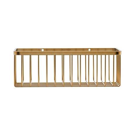 Housedoctor Mandje Basket brass goud staal 28x11x9,5cm