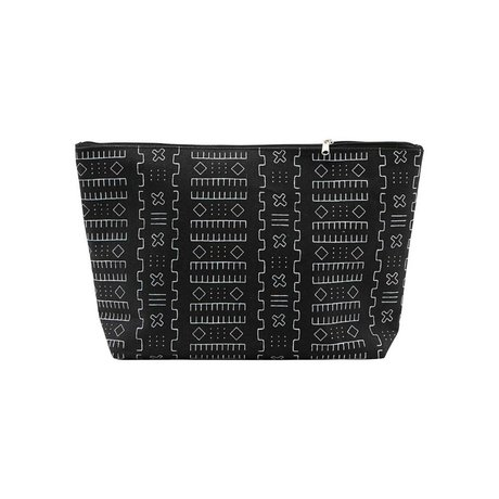 Housedoctor Kulturbeutel Inka schwarz Textil L 32x8x20cm