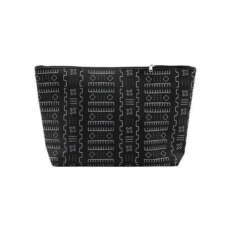 Housedoctor Toilettas Inka zwart textiel L 32x8x20cm