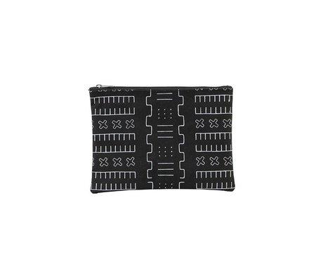 Housedoctor Kulturbeutel Inka schwarz Textil S 21x15cm