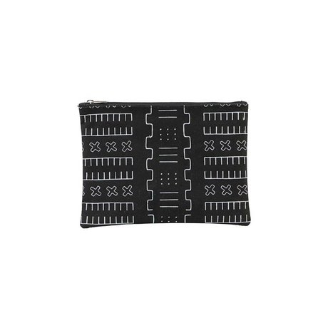 Housedoctor Toiletry bag Inka black textile S 21x15cm