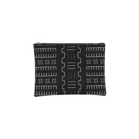 Housedoctor Trousse de toilette Inka noir textile S 21x15cm