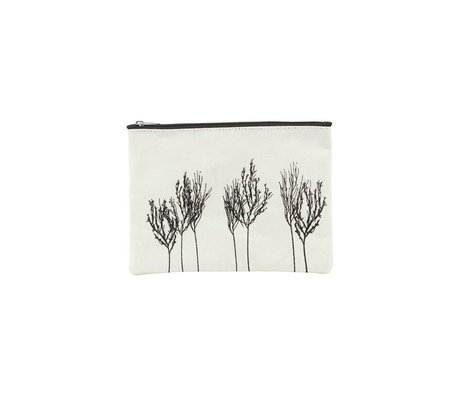 Housedoctor Toiletry bag Woods white black textile 21x15cm