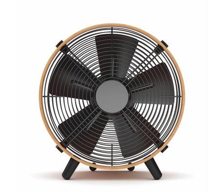 Stadler Form Ventilator Otto bruin zwart bamboe 35x37,6x18,5cm
