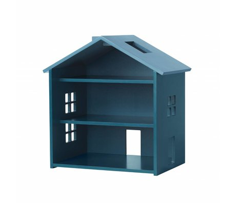 NOFRED House Harbor petrol blue MDF 34x23,5x39,3cm