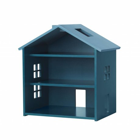 NOFRED Huis Harbour petrol blauw MDF 34x23,5x39,3cm