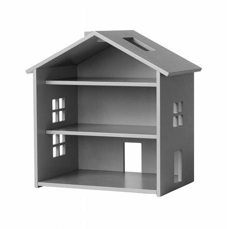NOFRED Huis Harbour grijs MDF 34x23,5x39,3cm