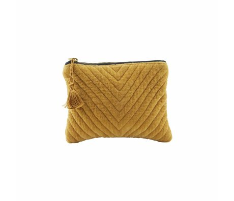 Housedoctor Pochette Mila jaune moutarde 23,5x15cm