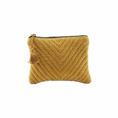 Housedoctor Clutch Mila mustard yellow textile 23,5x15cm
