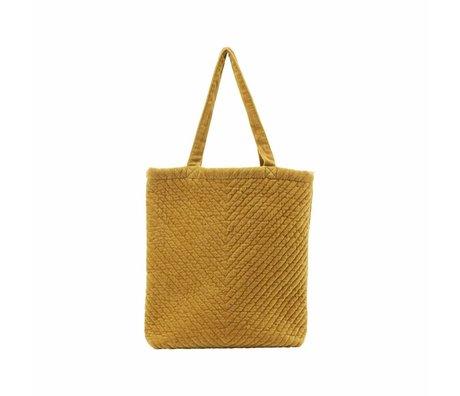 Housedoctor Tas Toti mosterd geel textiel 40x7x45cm