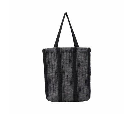 Housedoctor Tasche Toti grau Textil 40x7x45cm
