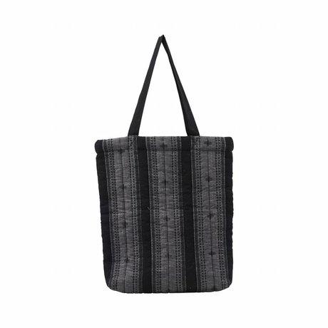 Housedoctor Bag Toti gray textile 40x7x45cm