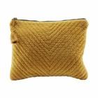 Housedoctor Clutch Mila mosterd geel textiel 31x23cm