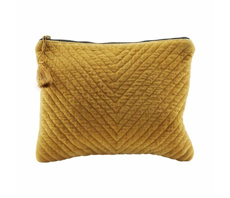 Housedoctor Clutch Mila mustard yellow textile 31x23cm