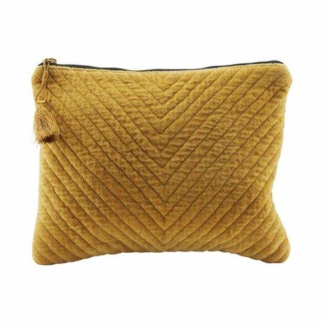 Housedoctor Clutch Mila Senfgelb Textil 31x23cm