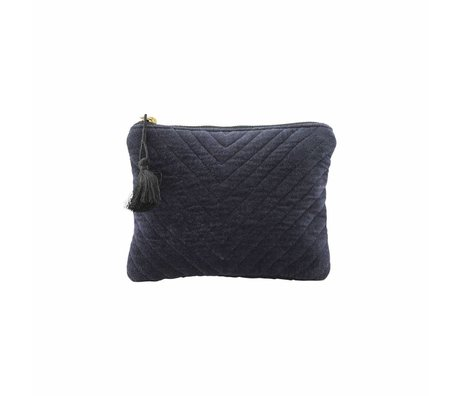 Housedoctor Clutch Mila blue textile 23,5x15cm