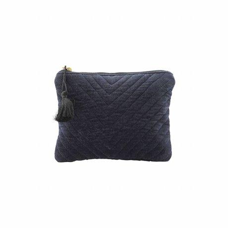 Housedoctor Clutch Mila blauw textiel 23,5x15cm
