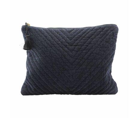 Housedoctor Clutch Mila blauw textiel 31x23cm