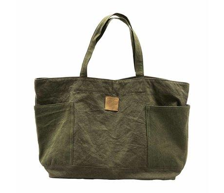 Housedoctor Weekend Bag Armee grün Textil 62x18x37cm