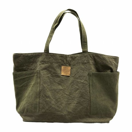 Housedoctor Weekend bag Army green textile 62x18x37cm