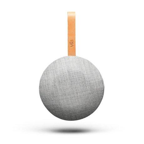 Vifa Bluetooth speaker Reykjavik zandsteen grijs textiel Ø13,9x6,5cm