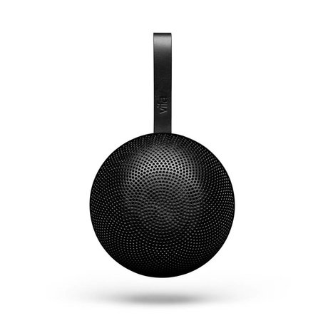Vifa Bluetooth speaker Reykjavik black aluminum Ø13,9x6,5cm