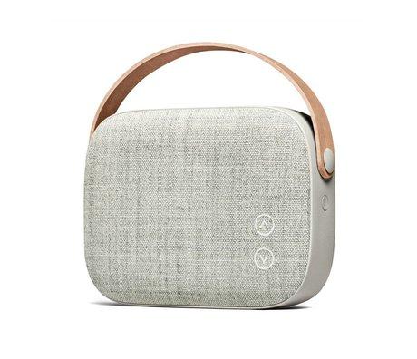 Vifa Haut-parleur Bluetooth Helsinki grès gris aluminium textile 21x7x15,6cm