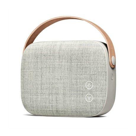 Vifa Bluetooth speaker Helsinki zandsteen grijs aluminium textiel 21x7x15,6cm