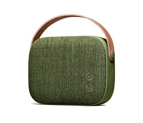 Vifa Bluetooth speaker Helsinki wilgen groen aluminium textiel 21x7x15,6cm