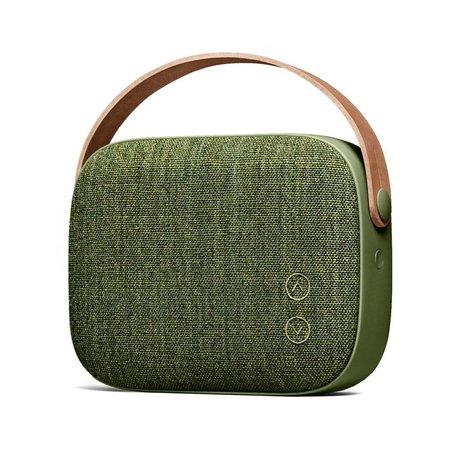 Vifa Haut-parleur Bluetooth Helsinki saule vert aluminium textile 21x7x15,6cm