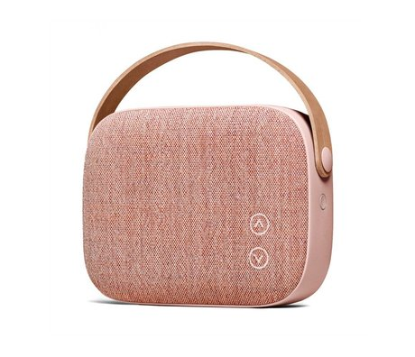 Vifa Bluetooth Lautsprecher Helsinki alten rosa Aluminium Textil 21x7x15,6cm