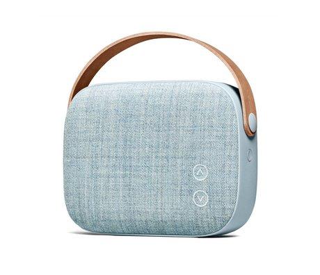 Vifa Haut-parleur Bluetooth Helsinki bleu aluminium textile 21x7x15,6cm