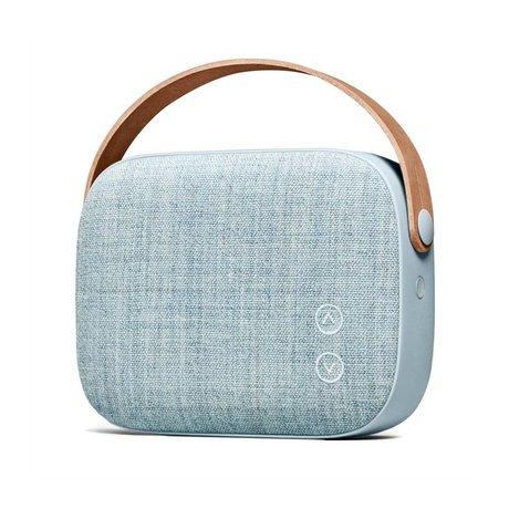 Vifa Bluetooth speaker Helsinki blauw aluminium textiel 21x7x15,6cm