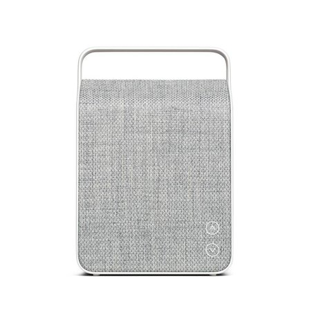 Vifa Bluetooth-Lautsprecher Oslo hellgrau Aluminium Textil 18,1x9x26,8cm