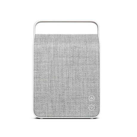 Vifa Enceinte Bluetooth Oslo gris clair aluminium textile 18,1x9x26,8cm