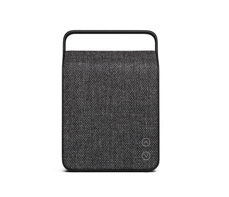 Vifa Bluetooth Lautsprecher Oslo anthrazitgrau Aluminium Textil 18,1x9x26,8cm