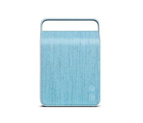 Vifa Haut-parleur Bluetooth Oslo en aluminium bleu clair textile 18,1x9x26,8cm