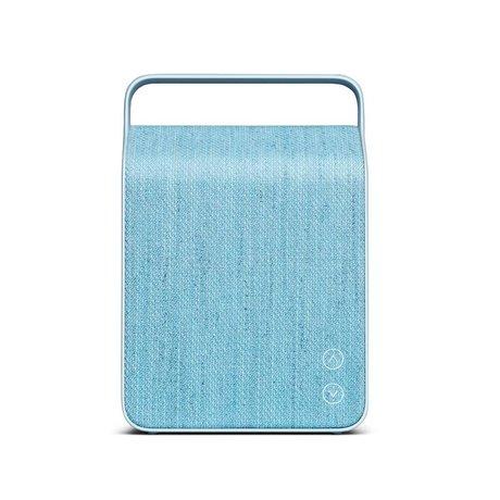 Vifa Bluetooth Lautsprecher Oslo hellblau Aluminium Textil 18,1x9x26,8cm