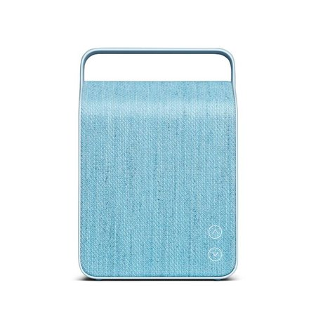 Vifa Bluetooth speaker Oslo light blue aluminum textile 18,1x9x26,8cm