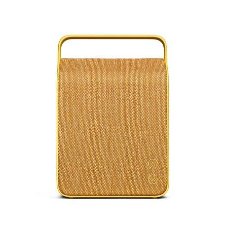 Vifa Bluetooth Lautsprecher Oslo gelb Aluminium Textil 18,1x9x26,8cm