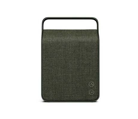 Vifa Bluetooth Lautsprecher Oslo dunkelgrün Aluminium Textil 18,1x9x26,8cm