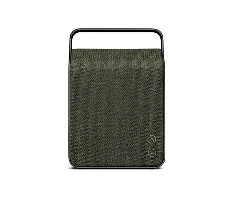 Vifa Bluetooth speaker Oslo donkergroen aluminium textiel 18,1x9x26,8cm