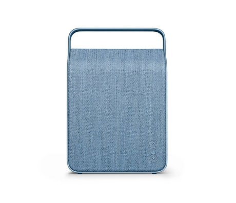 Vifa Bluetooth haut-parleur Oslo bleu glace aluminium textile 18,1x9x26,8cm