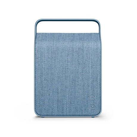 Vifa Bluetooth Lautsprecher Oslo Eisblau Aluminium Textil 18,1x9x26,8cm